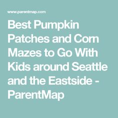 Best Pumpkin Patches and Corn Mazes to Go With Kids around Seattle and the Eastside - ParentMap