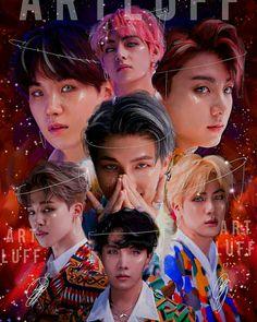 I think types of art like these should be done for every bts era Bts Taehyung, Bts Bangtan Boy, Bts Jimin, Namjoon, K Pop, Foto Bts, Les Bts, Bts Group Photos, Bts Backgrounds