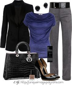 """Indigo Top"" by uniqueimage ❤ liked on Polyvore"