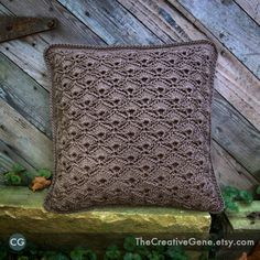 The Fan  14x14 Hand Crochet Pillow  Made to by TheCreativeGene, $48.00