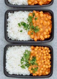 Vegan Chickpea Curry & Basmati Rice Meal Prep - Meal Prep on Fleek™
