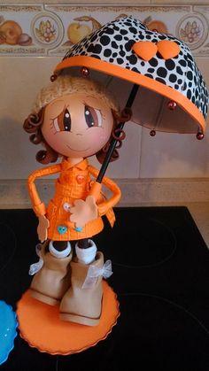 Fofucha con paraguas