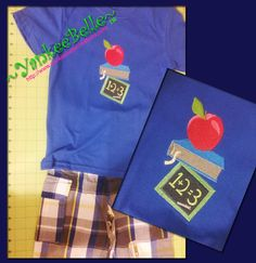 This 'School Day' embroidery is perfect for back to school! Custom embroidery available. Please contact me for details at: susan@yankeebellecreations...