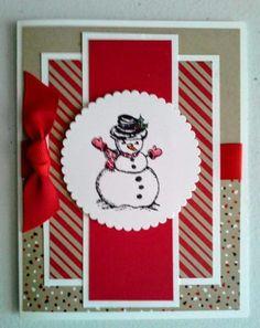Christmas cards handmade design ideas 1 - Karten I-K - christmas Homemade Birthday Cards, Homemade Christmas Cards, Christmas Cards To Make, Homemade Cards, Holiday Cards, Christmas Crafts, Christmas Greetings, Christmas 2019, Christmas Card Designs