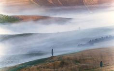 Misty Sunrise Over Val D'orcia by Jarmila #nature #mothernature #travel #traveling #vacation #visiting #trip #holiday #tourism #tourist #photooftheday #amazing #picoftheday