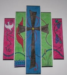 while very nice for worship, pondering some sort of wall hanging using this sort of configuration. Combo of medias