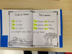 Poetry Shared Reading in Kindergarten-highlight the sight POEMS: I like the idea of highlighting sight words, or you could us highlighting tape. Kindergarten Poetry, Kindergarten Language Arts, Kindergarten Classroom, Kindergarten Activities, Classroom Decor, Kindergarten Guided Reading, Kindergarten Sight Words, Readers Workshop Kindergarten, Interactive Notebooks Kindergarten