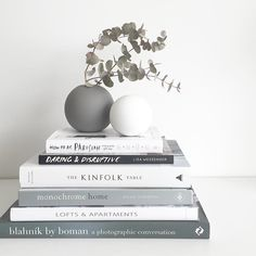 Books in gray and white.