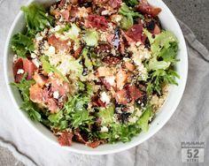Kvinoasalaatti ilmakuivatulla kinkulla