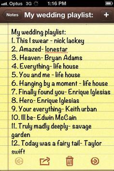 A Few Good Songs For The Wedding Playlist