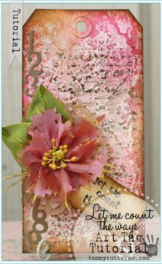 Tammy Tutterow | Count the Ways Art Tag Tutorial