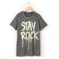 T-shirt estampada, mangas curtas R Teens   La Redoute