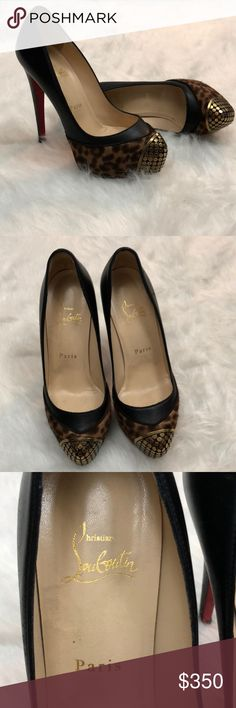 Christian Louboutin Maggie 140 Pony Leopard Pumps Christian Louboutin Maggie 140 Pony Leopard Pumps. Size: 36. Heels and Soles show wear (as pictured) . No Box or Dust Bag, just the shoes. Christian Louboutin Shoes Heels