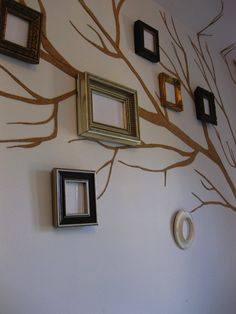 would my apt let me paint on the wall? need to check on this...soo cute. already have the frames...