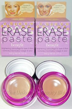 A Concealer and Neutralizer - Benefit Erase Paste and Hard Candy Glamoflauge | The Unknown Beauty Blog