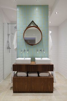 Bathroom Backsplashes Make a Style Statement // Be inspired to turn this small bathroom detail into a big design feature