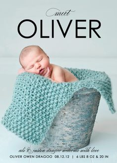 Birth Announcement--- love all of it. Apple crate maybe?!