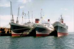 1 of 1: sh069  CRUISE LINER Southampton 1960s passenger ship photo