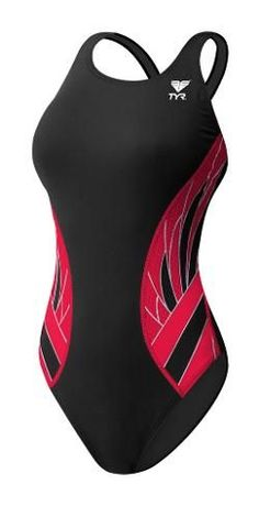 TYR Women's Phoenix Splice Maxfit Swimsuit Black/Red 32