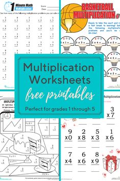 These multiplication worksheets cover everything from times tables to multiplying with decimals. We feature multiplication worksheets for kids of every level. Free Multiplication Worksheets, Free Printable Worksheets, Worksheets For Kids, Multiplication Practice, Multiplication Strategies, Free Printables, Times Tables Worksheets, Experiment, Math Classroom