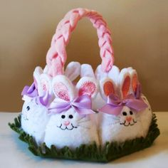 Bunny Easter Basket Machine Embroidery Design Project - $8.99 : Golden Needle Designs, Great machine embroidery designs