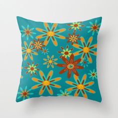 Outdoor Pillow Modern Outdoor Pillow  Turquoise by crashpaddesigns
