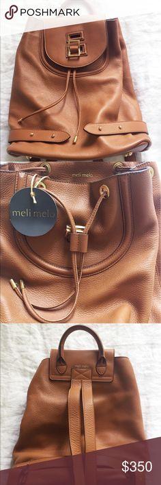 Meli Melo tan mini backpack (new with tags) Meli Melo mini backpack (new with tags) 100% leather meli melo Bags Backpacks