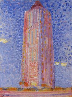 Piet Mondriaan | Lighthouse at Westkapelle in Pink, 1909 39 x 29.5 cm Oil on cardboard Gemeentemuseum, The Hague
