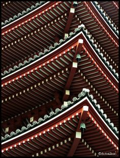 Pagoda roof in Senso-ji, Asakusa, Tokyo #japan