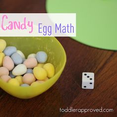 Candy Egg Math. Fun way to do math with leftover candy. Do you have any other favorite spring math activities you love?