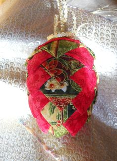 Christmas Fir Cone Bauble Decoration by ComfyCosyCrafts on Etsy, $10.00