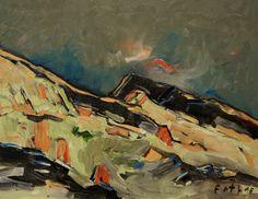 Tiroler Berghänge / Öl auf Leinwand / 70 x 90 cm / 2016 /  Detlev Foth