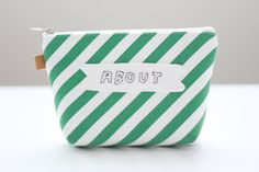 ABOUT Embroidery Makeup Bag Zipper Pouch Canvas  Cosmetic Bag Durable Pouches by hyonmade on Etsy