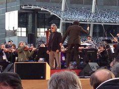 Prove anche per #AndreaBocelli con l'orchestra #Rai #expo365 #expo2015 #laforzadelsorriso
