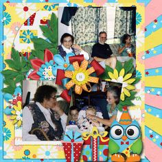 Pictures of my daughter's birthday party.   Kit used: Happy Birthday by Marie H. Designs available at http://www.godigitalscrapbooking.com/shop/index.php?main_page=product_dnld_info&cPath=29_331&products_id=25802   Template: Marie H. Designs' Wild Child