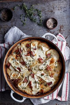 Bacon and brie potato bake