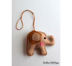 Felt Stuffed Elephant