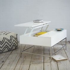 Shop Storage coffee table from west elm. Find a wide selection of furniture and decor options that will suit your tastes, including a variety of Storage coffee table. Furniture For Small Spaces, Modern Furniture, Furniture Design, Minimalist Furniture, Space Furniture, White Furniture, Cheap Furniture, Coffee Table With Storage, Small Spaces