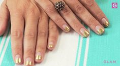 This Diane Von Furstenberg Inspired Manicure Puts A New Meaning On Gold Finger With