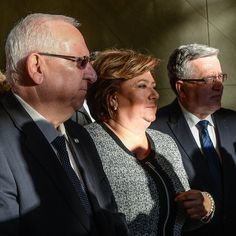 Prezydent Izraela Reuwen Riwlin oraz prezydent RP Bronisław Komorowski z żoną