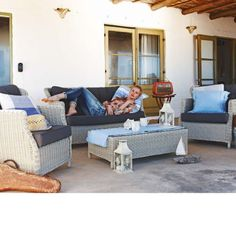 Lounge-Set, incl.Auflagen, Aluminium, Polyester, PU Katalogbild