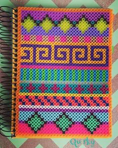Perler bead notebook cover by merakihc