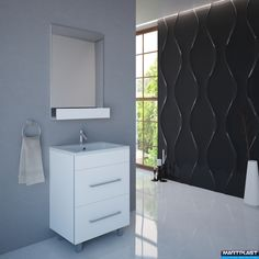 Bathroom furniture - Titan; Dimensions: Cabinet: 60x44x70 cm; Total hight of the cabinet - 84 cm;