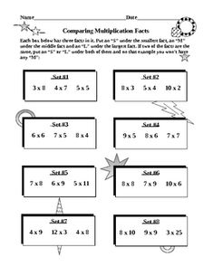 MULTIPLICATION FACTS ABOUND!   Multiplication facts - how important are they to your students? This set of 15 worksheets is all on multiplication facts. A GREAT VARIETY OF ACTIVITIES FOR THEIR TIMES TABLES!