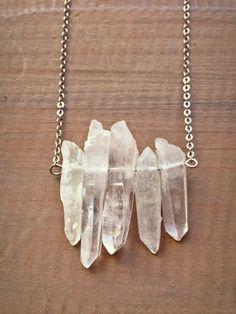 Crystal Quartz Pendant #crystal #necklaces #bohemian #bohochic #healing