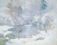 Art Print: Winter Harmony Art Print by John Henry Twachtman by John Henry Twachtman : Winter Landscape, Landscape Art, Landscape Paintings, Landscapes, Harmony Art, American Impressionism, Painting Snow, National Gallery Of Art, Dream Art