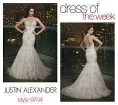 Dress Of The Week: 9704- This week we are featuring a stunning bridal couture design from the Justin Alexander Signature collection for our Dress of the Week. Take a look at Style 9704!