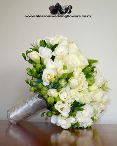 White/Green Bridal Bouquet