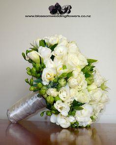 White/Green Bridal Bouquet