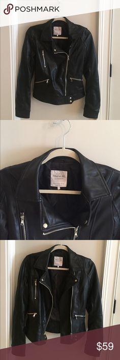 ZARA Faux Leather Black Jacket ZARA Trafaluc Outerwear Faux Leather Black Jacket with Zipper Closure.  *Like New condition!* Only worn once.  Size XS Zara Jackets & Coats